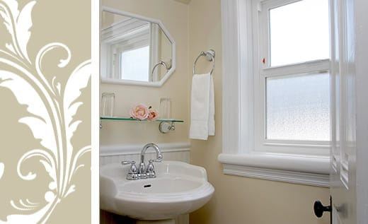 Jessica's Haven view of bathroom sink and window