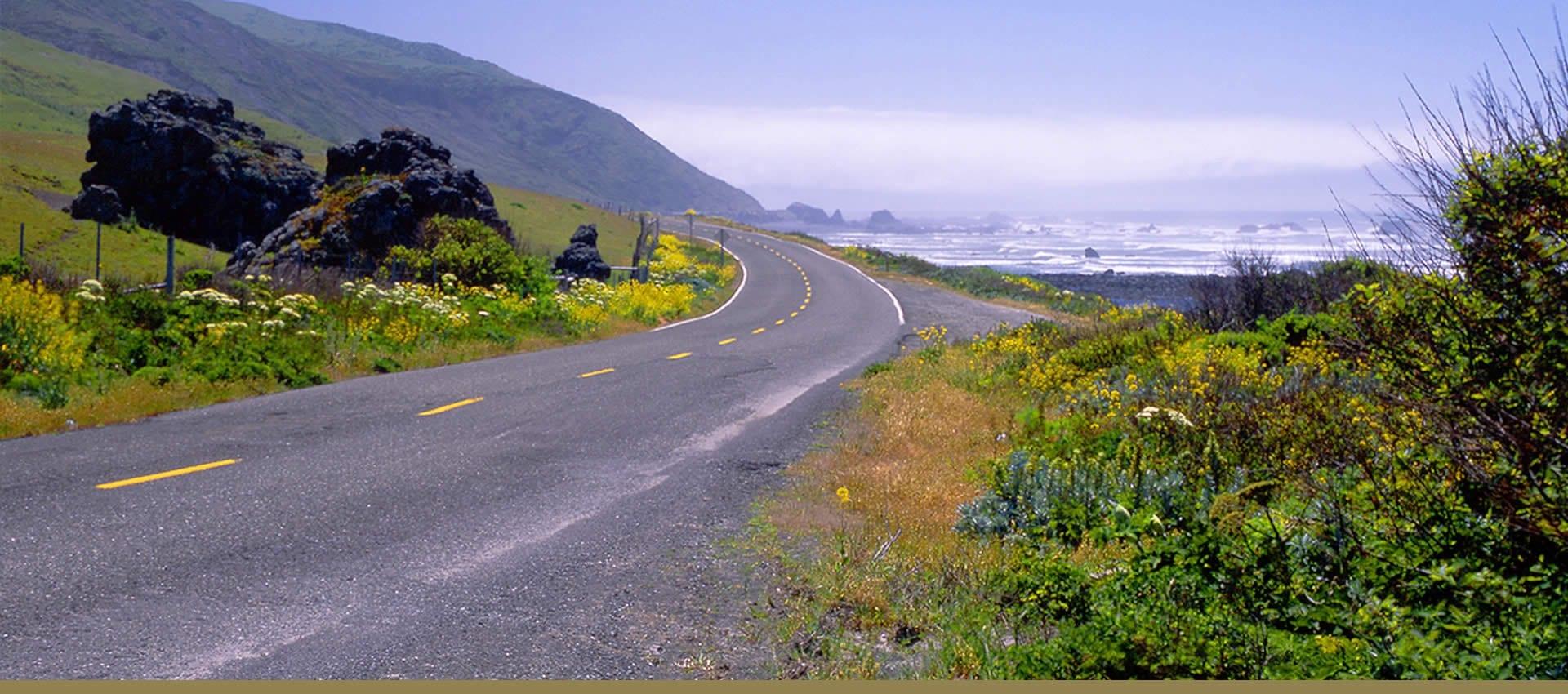 Northern California coastal highway