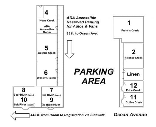 Redwood suites property map